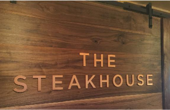 Custom Barn door sign for Paso Robles Steakhouse